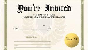 Fill In Graduation Invitations Unique Graduation Diploma Fill In the Blank Invitation