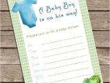Fillable Baby Shower Invitations Fillable Baby Shower Invitation Boy Invitations Baby