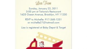 """Fire Truck Baby Shower Invitations Engine 27 Fire Truck Puppy Baby Shower Invitations 5"""" X 7"""