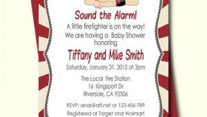 Firefighter Baby Shower Invitations Firefighter Baby Shower Invitation Fireman Baby Shower