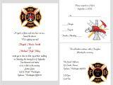 Firefighter themed Wedding Invitations 100 Personalized Custom Firefighter Bridal Wedding