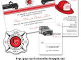 Firefighter themed Wedding Invitations Paper Perfection Tina 39 S Fire Fighter Wedding Invitation
