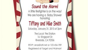 Fireman Baby Shower Invitations Firefighter Baby Shower Invitation Fireman Baby Shower
