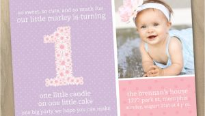 First Birthday Invitation Wordings by Baby Baby Girl First 1st Birthday Photo Invitation Pink and