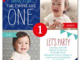 First Birthday Invitations for Twins 12 Twin Birthday Invitations Templates – Free Sample