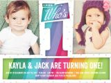 First Birthday Invitations for Twins Discount 1st Birthday Invitations for Twins Shutterfly