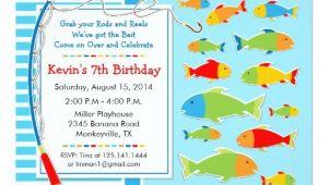 Fish themed Birthday Party Invitations Fishing theme Birthday Party Invitation Zazzle