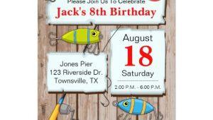 Fishing themed Party Invitations Fishing theme Party Invitation Zazzle Com