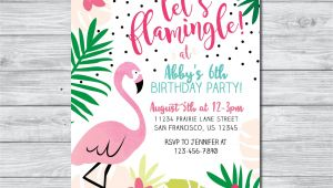 Flamingo Party Invitation Template Free Flamingo Birthday Invitation Let 39 S Flamingle Invitation