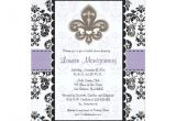 Fleur De Lis Bridal Shower Invitations Fleur De Lis Bridal Shower Invitations Purple Gold Zazzle