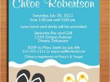 Flip Flop Wedding Invitations Beach Flip Flop Summer Bridal Shower Customized Printable