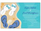 Flip Flop Wedding Invitations Mr and Mrs Flip Flops Beach Wedding Invitations Paperstyle