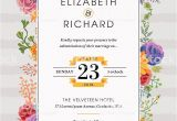 Floral Wedding Invitation Template Floral Wedding Invitation Template Stock Illustration