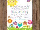 Flower themed Birthday Party Invitation Wording Garden Party Invitation Garden Birthday Invitation Spring