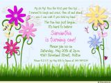 Flower themed Birthday Party Invitation Wording Sunny Flower Birthday Invitation Sweet Girl S Bright Fun