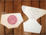 Folded Baby Shower Invitations Folded Diaper Invitation Templates with Instructions How