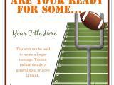 Football Birthday Party Invitation Templates Free Football Invitation Template Invitation Template