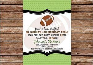 Football Birthday Party Invitation Wording Football Birthday Invitation Football Party Football