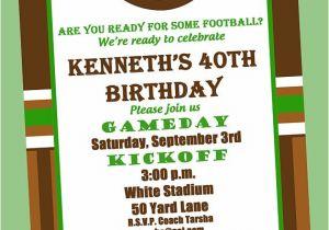 Football Birthday Party Invitation Wording Football Birthday Party Invitation Printable or by