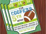 Football Birthday Party Invitation Wording Football Birthday Party Invitations Wblqual Com