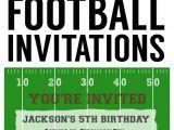 Football Birthday Party Invitation Wording Football Party Invitation Template Free Printable
