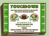 Football Party Invitation Wording Football Couple S Shower Engagement Party Invitation