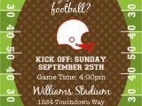 Football Party Invitations Templates Free End Of Season Football Invitation Printable