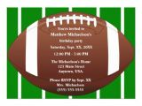 Football Party Invitations Templates Free Football Birthday Invitation Templates