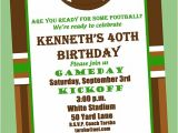 Football Party Invitations Templates Free Football Birthday Party Invitation Printable or Printed with