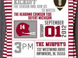 Football Tailgate Party Invitation Wording Football or Tailgate Party Invitation or Invite $12 00