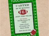 Football Tailgate Party Invitation Wording Football Party Invitation Birthday Tailgate by