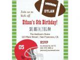 Football themed Birthday Party Invitation Wording American Football Kids Birthday Party Invitations