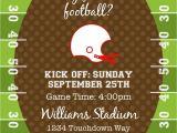 Football themed Birthday Party Invitation Wording Football or Tailgating Birthday Party or Shower