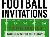 Football themed Birthday Party Invitation Wording Football Party Invitation Template Free Printable