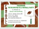Football themed Birthday Party Invitation Wording Football Party Invitation Wording