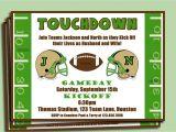Football themed Birthday Party Invitation Wording Invitation Football Party