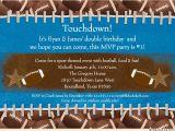 Football themed Birthday Party Invitation Wording touchdown Football Invitation Birthday Mvp 1