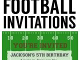Football themed Party Invitation Wording Football Party Invitation Template Free Printable