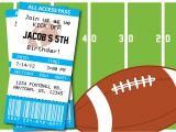 Football themed Party Invitation Wording Invitation Football Party