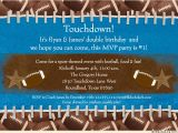 Football themed Party Invitation Wording touchdown Football Photo Invitation Birthday Mvp 1