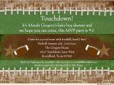 Football themed Party Invitation Wording touchdown Football Shower Invitation Baby Mvp Photos
