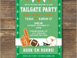 Football Watch Party Invitation Wording Football Tailgate or Watching Party Invitation Ut
