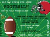 Football Watch Party Invitation Wording Printable Superbowl Football Game Watch Party Invitation