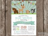 Forest Friends Baby Shower Invitations Items Similar to Woodland Baby Shower Invitation forest