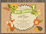 Forest Friends Baby Shower Invitations Woodland Baby Shower Invitation Fall forest Friends