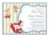 Forest Friends Baby Shower Invitations Woodland Baby Shower Invitation forest Friends