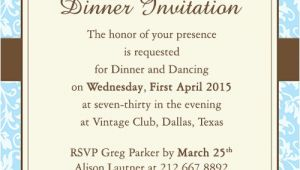 Formal Dinner Party Invitations Fab Dinner Party Invitation Wording Examples You Can Use