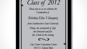 Formal Graduation Invitation Wording Etsy Your Place to Buy and Sell All Things Handmade