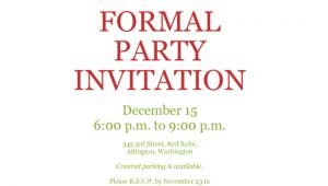 Formal Party Invitation Template formal Party Invitation Template