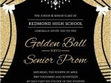 Formal Party Invitation Template Free Elegant Faux Gold Glitter Curtain Prom Invitation